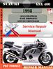 Thumbnail Suzuki GSX 400 1998 Digital Factory Service Repair Manual