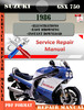Thumbnail Suzuki GSX 750 1986 Digital Factory Service Repair Manual