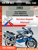 Thumbnail Suzuki GSX 750 1992 Digital Factory Service Repair Manual