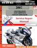 Thumbnail Suzuki GSX 1300 Hayabusa 2007 Digital Service Repair Manual