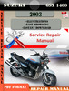 Thumbnail Suzuki GSX 1400 2003 Digital Factory Service Repair Manual