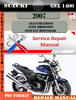 Thumbnail Suzuki GSX 1400 2007 Digital Factory Service Repair Manual