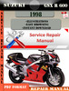 Thumbnail Suzuki GSX R 600 1998 Digital Factory Service Repair Manual