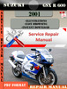 Thumbnail Suzuki GSX R 600 2001 Digital Factory Service Repair Manual