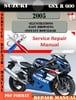 Thumbnail Suzuki GSX R 600 2005 Digital Factory Service Repair Manual
