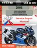 Thumbnail Suzuki GSX R 600 2008 Digital Factory Service Repair Manual