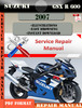 Thumbnail Suzuki GSX R 600 2007 Digital Factory Service Repair Manual