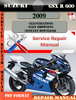 Thumbnail Suzuki GSX R 600 2009 Digital Factory Service Repair Manual