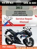 Thumbnail Suzuki GSX R 600 2012 Digital Factory Service Repair Manual