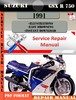 Thumbnail Suzuki GSX R 750 1991 Digital Factory Service Repair Manual