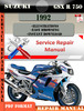 Thumbnail Suzuki GSX R 750 1992 Digital Factory Service Repair Manual