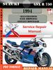 Thumbnail Suzuki GSX R 750 1994 Digital Factory Service Repair Manual