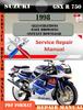 Thumbnail Suzuki GSX R 750 1998 Digital Factory Service Repair Manual