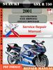 Thumbnail Suzuki GSX R 750 2001 Digital Factory Service Repair Manual