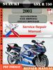 Thumbnail Suzuki GSX R 750 2003 Digital Factory Service Repair Manual