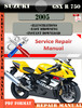 Thumbnail Suzuki GSX R 750 2005 Digital Factory Service Repair Manual