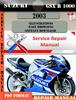 Thumbnail Suzuki GSX R 1000 2003 Digital Factory Service Repair Manual