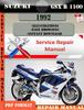Thumbnail Suzuki GSX R 1100 1992 Digital Factory Service Repair Manual
