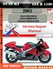 Thumbnail Suzuki GSX R 1300 Hayabusa 2003 Digital Service Repair Manua