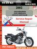 Thumbnail Suzuki GZ 250 Marauder 2002 Digital Service Repair Manual