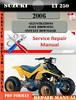 Thumbnail Suzuki LT 250 2006 Digital Factory Service Repair Manual