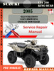 Thumbnail Suzuki LTA 700 King Quad 2005 Digital Service Repair Manual