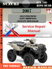 Thumbnail Suzuki LTA 700 King Quad 2007 Digital Service Repair Manual