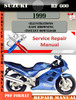 Thumbnail Suzuki RF 600 1999 Digital Service Repair Manual