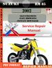 Thumbnail Suzuki RM 85 2002 Digital Factory Service Repair Manual
