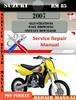 Thumbnail Suzuki RM 85 2007 Digital Factory Service Repair Manual