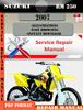 Thumbnail Suzuki RM 250 2007 Digital Factory Service Repair Manual