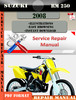 Thumbnail Suzuki RM 250 2008 Digital Factory Service Repair Manual