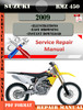 Thumbnail Suzuki RMZ 450 2009 Digital Factory Service Repair Manual