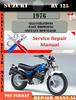 Thumbnail Suzuki RV 125 1976 Digital Factory Service Repair Manual
