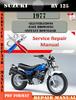 Thumbnail Suzuki RV 125 1977 Digital Factory Service Repair Manual
