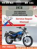 Thumbnail Suzuki RV 125 1978 Digital Factory Service Repair Manual