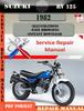 Thumbnail Suzuki RV 125 1982 Digital Factory Service Repair Manual
