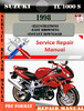 Thumbnail Suzuki TL 1000 S 1998 Digital Factory Service Repair Manual