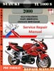 Thumbnail Suzuki TL 1000 S 2000 Digital Factory Service Repair Manual