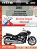 Thumbnail Suzuki VZ 1500 2003 Digital Factory Service Repair Manual