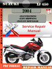 Thumbnail Suzuki XF 650 2004 Digital Factory Service Repair Manual