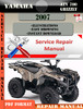 Thumbnail Yamaha ATV 700 Grizzly 2007 Digital Service Repair Manual