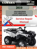 Thumbnail Yamaha ATV 700 Grizzly 2010 Digital Service Repair Manual