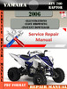 Thumbnail Yamaha ATV 700 Raptor 2006 Digital Service Repair Manual
