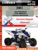 Thumbnail Yamaha ATV 700 Raptor 2007 Digital Service Repair Manual