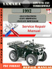 Thumbnail Yamaha ATV YFB 250 Timberwolf 1992 Digital Service Repair Ma