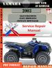 Thumbnail Yamaha ATV YFM 40 Kodiak 2003 Digital Service Repair Manual