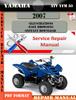 Thumbnail Yamaha ATV YFM 50 2007 Digital Factory Service Repair Manual
