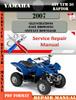 Thumbnail Yamaha ATV YFM 50 Raptor 2007 Digital Service Repair Manual