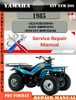 Thumbnail Yamaha ATV YFM 200 1985 Digital  Factory Service Repair Manu
